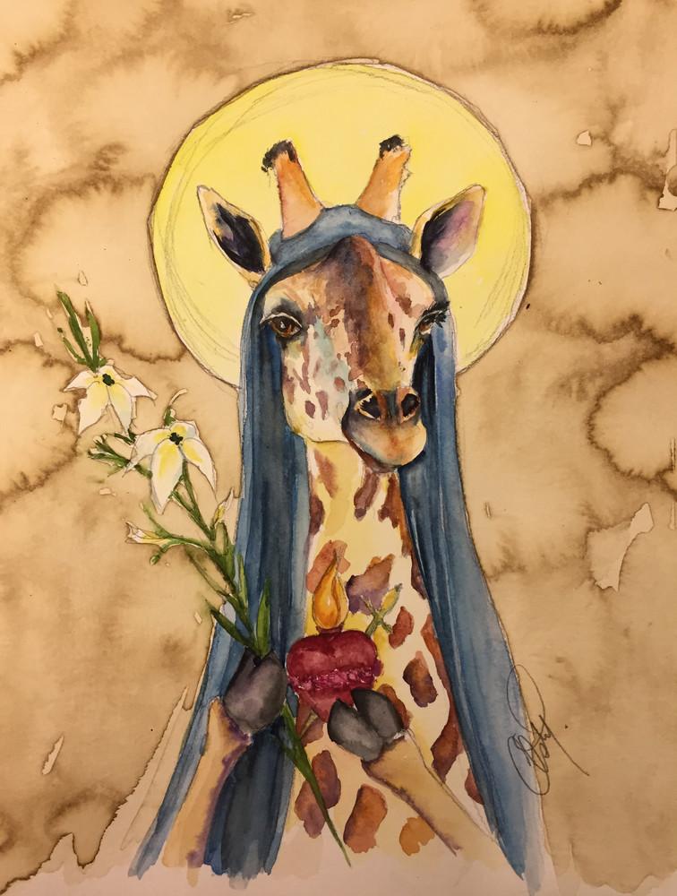 Holy Mother Giraffe Gives Her Blessing Art | Christy! Studios