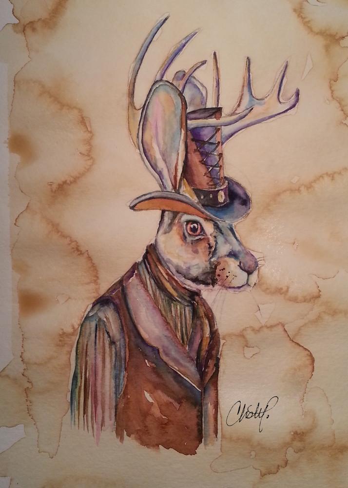 Jackalope Stea Art | Christy! Studios
