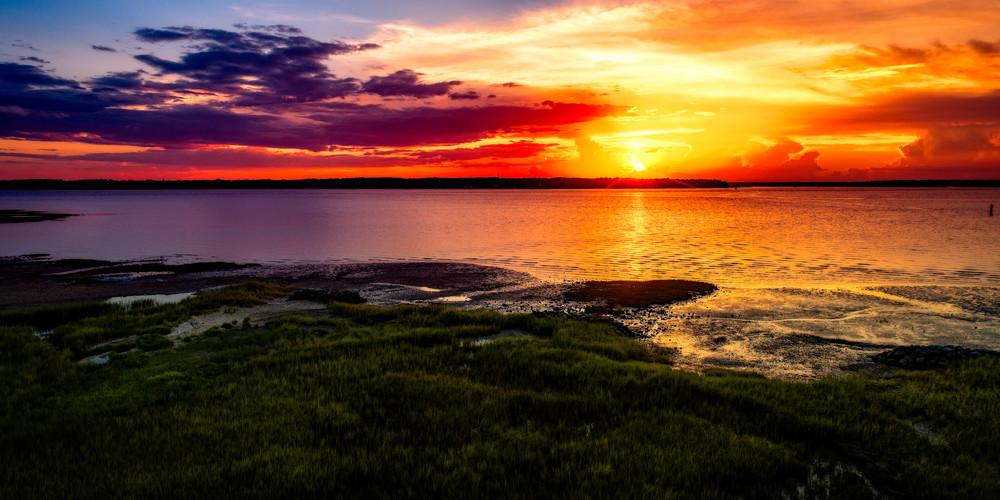 Summer Sunset Over Calibogue Sound