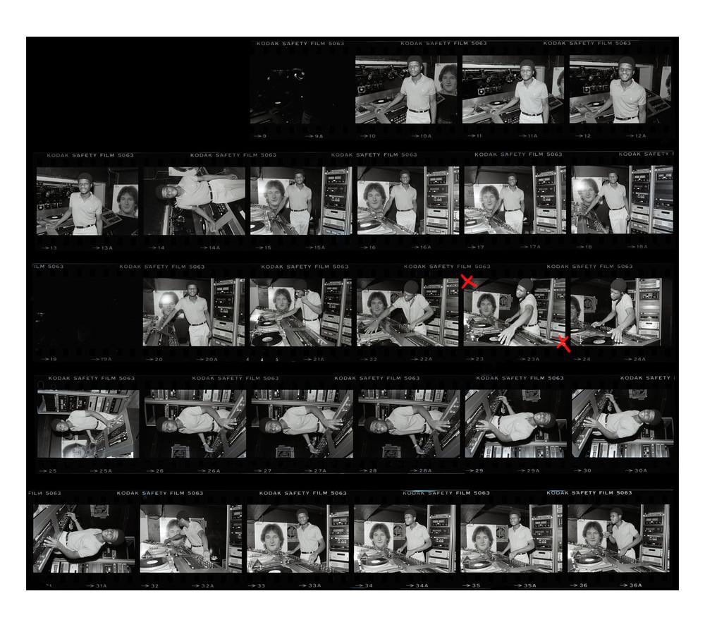 Dj Larry Levan, Contact Sheet, 1979 Photography Art   Bill Bernstein Fine Art Collection