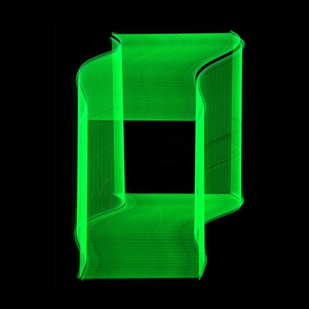 Green Neon Light Painting Photography Art   David Louis Klein