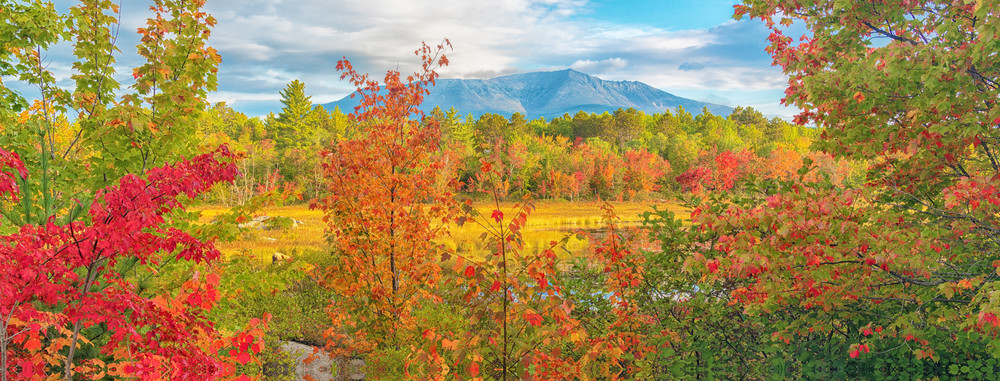 Katahdin from Compass Pond in Fall