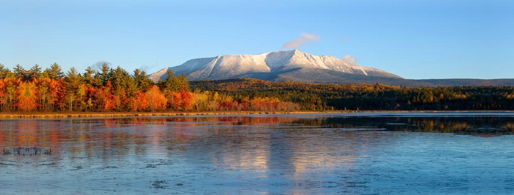 Katahdin from Compass Pond in Autumn