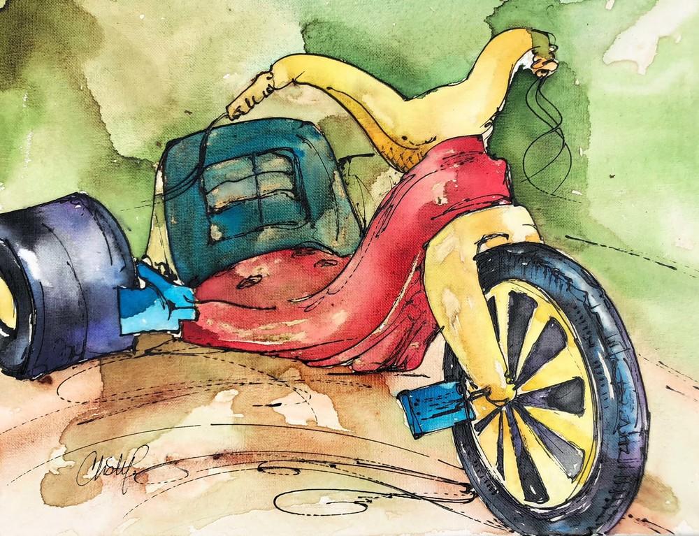 Bigwheel Memories Art   Christy! Studios