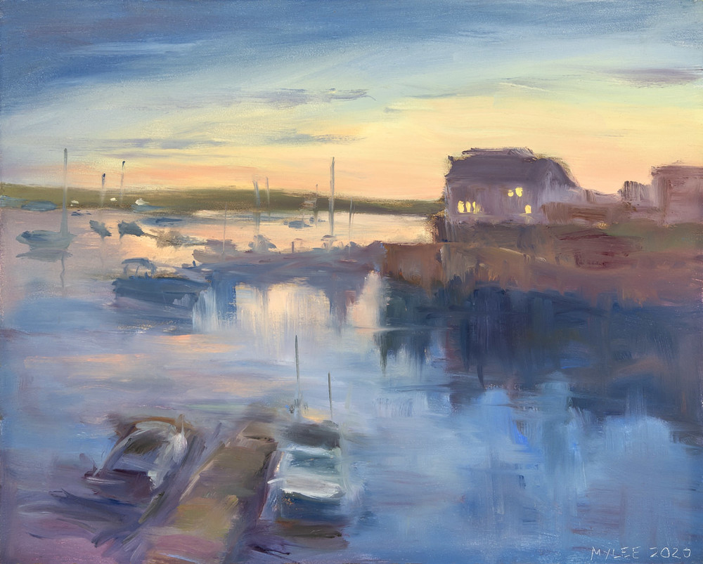 Sunset At Lobster Cove Art | capeanngiclee