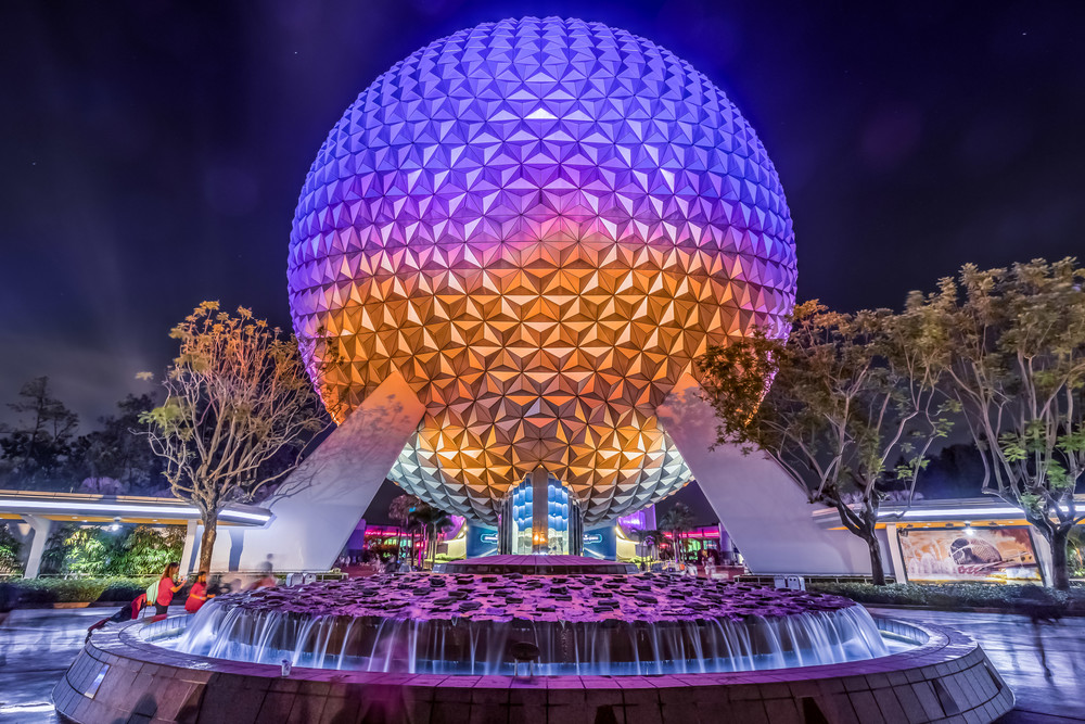 Spaceship Earth At Night 8 Photography Art | William Drew Photography