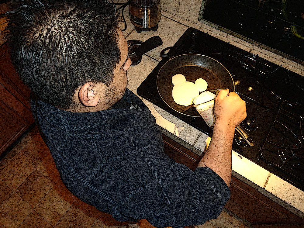 Saturday Pancakes With Daddy Art | Art from the Soul