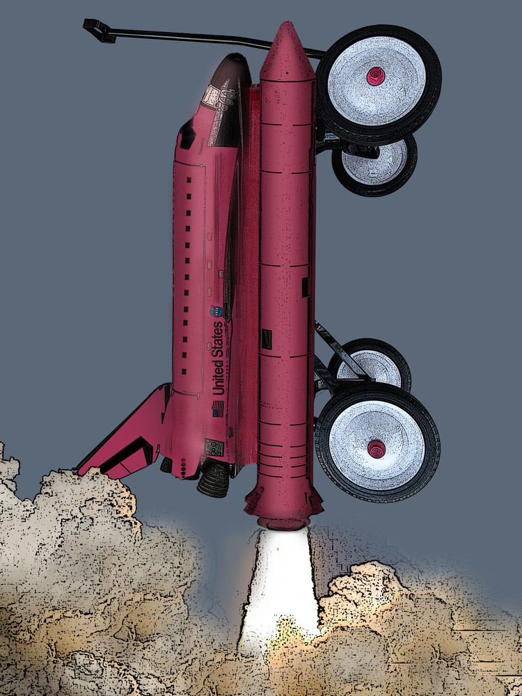 My Red Wagon Is The Space Shuttle Art | Art from the Soul
