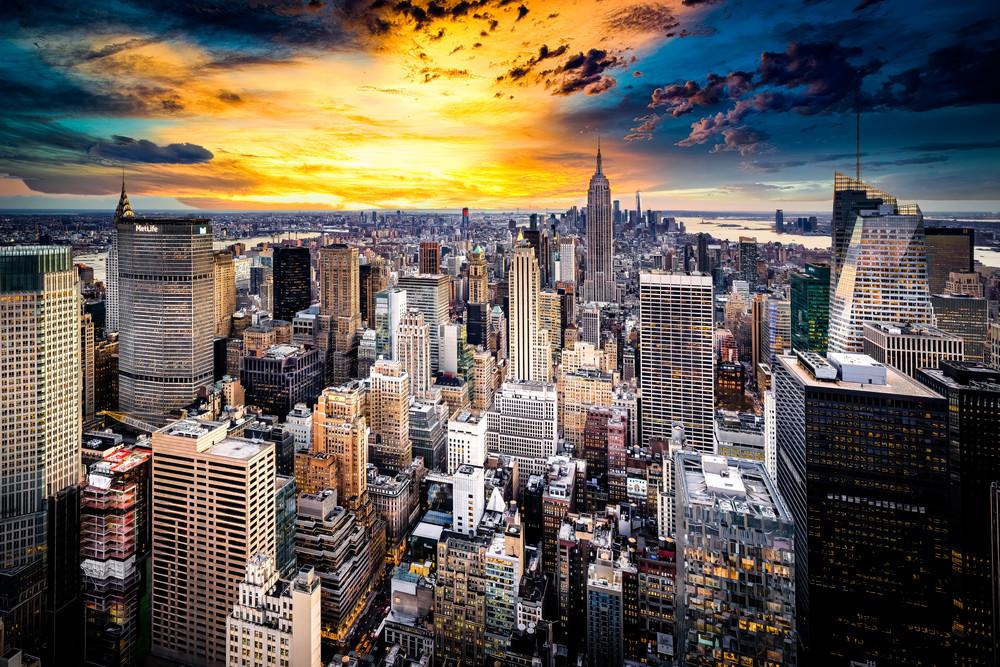 Sunset Over Gotham Art Print
