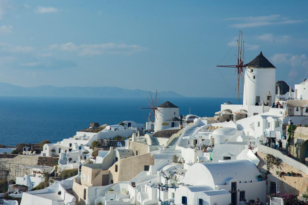 Oia, With Windmill   Santorini, Greece Art | karenihirsch