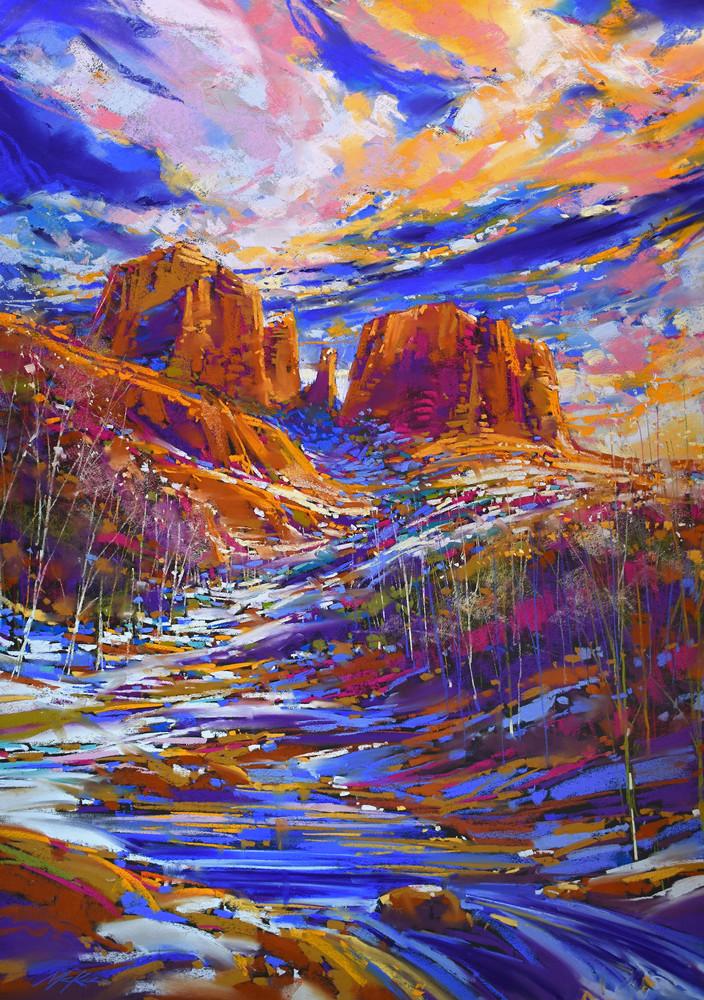 Oak Creek Snow  Art | Michael Mckee Gallery Inc.