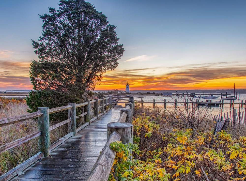 Edgartown Light Fall Pathway Art | Michael Blanchard Inspirational Photography - Crossroads Gallery