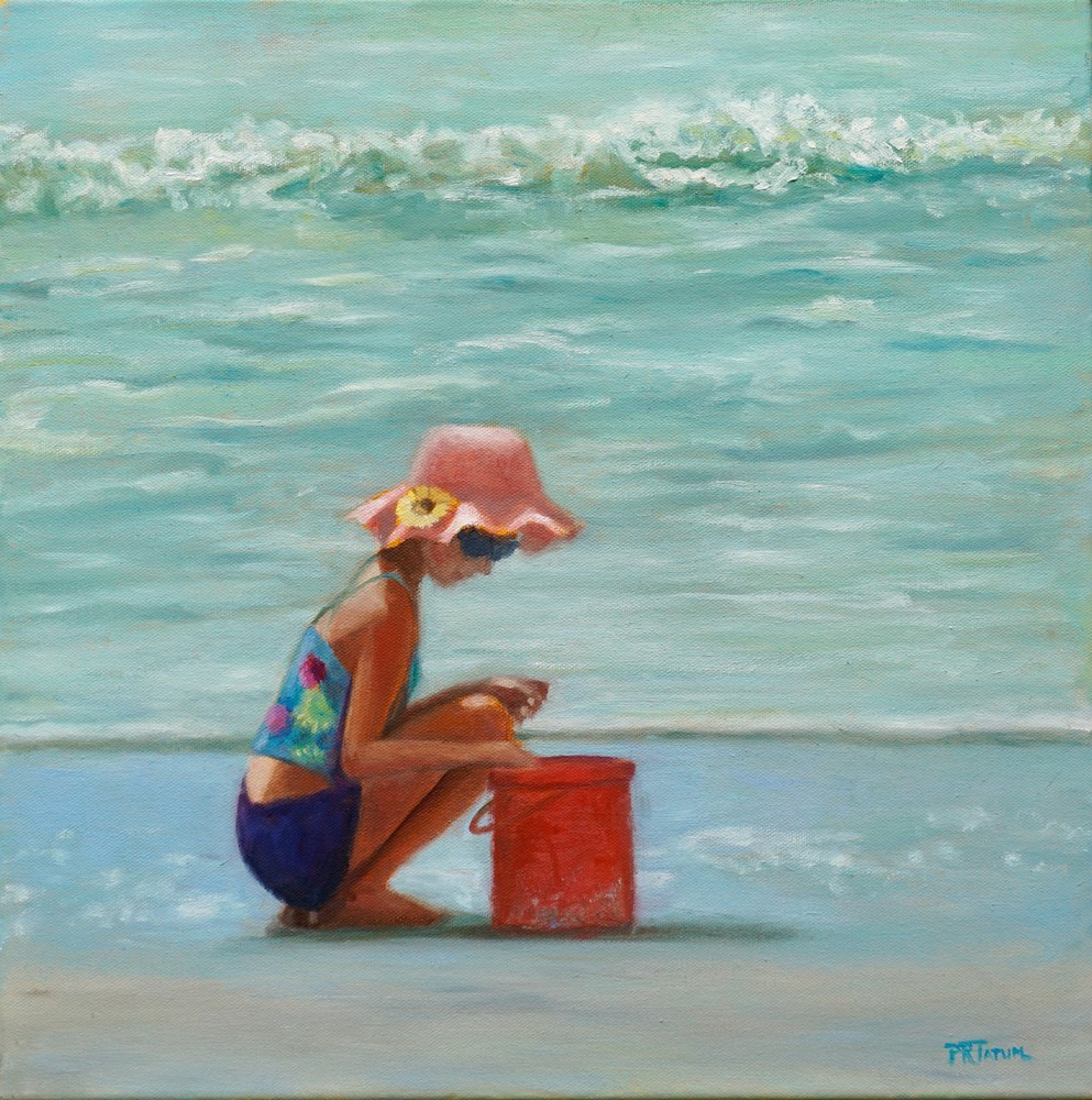 Little Girl At The Beach 722 Art | Pamela Ramey Tatum Fine Art