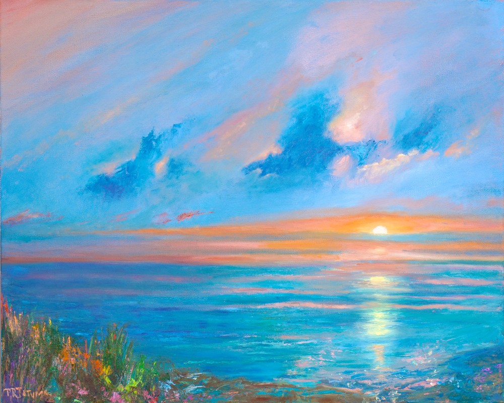 Solitude At Sunrise 1 811 Art | Pamela Ramey Tatum Fine Art