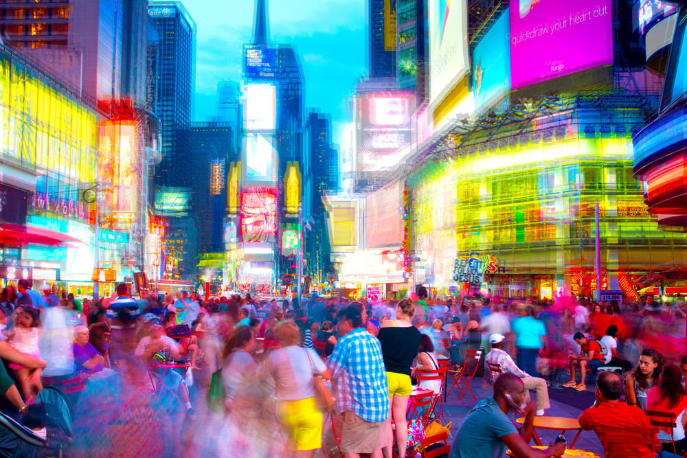 Times Square Abstraction Art | Jason Homa