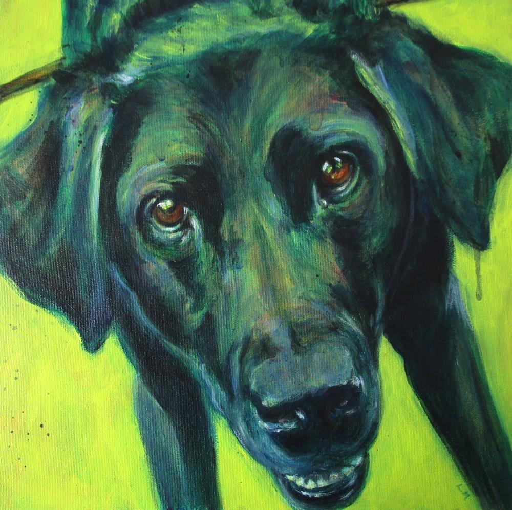 Fetch   Black Lab Art Art | Lesley McVicar Art