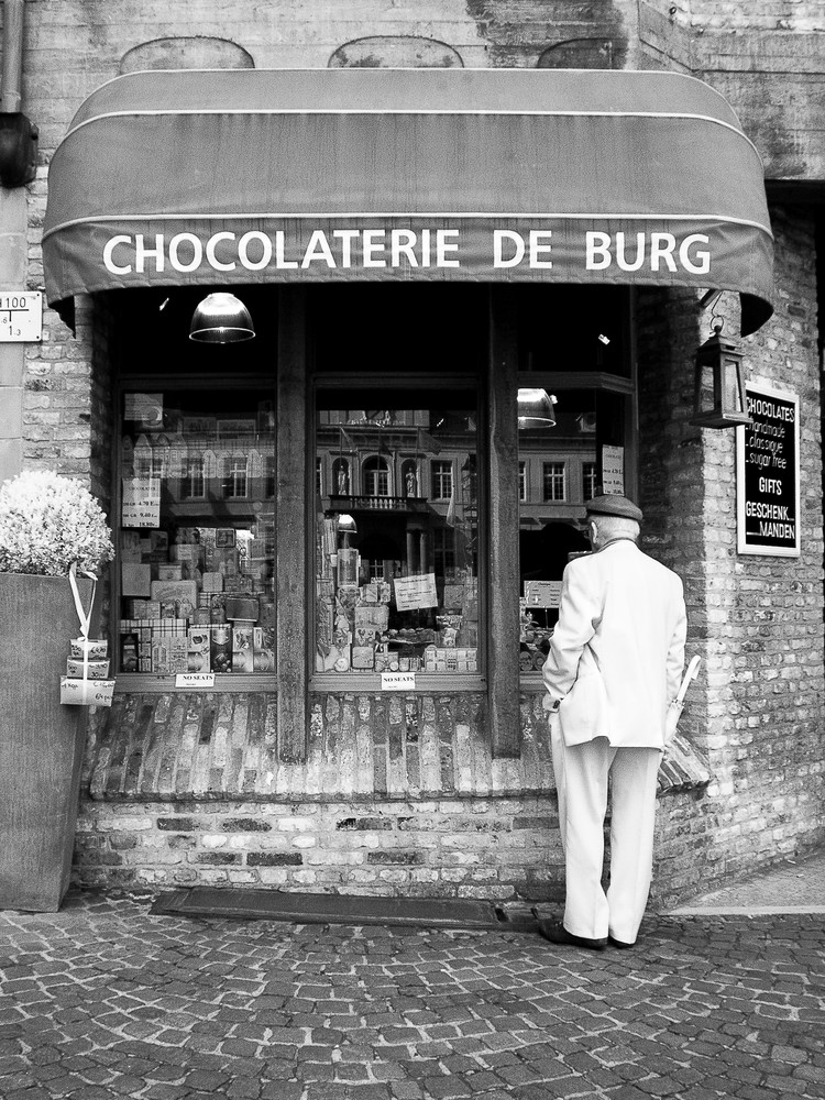 Belgian Chocoholic Bruges Photography Art | The World in Black and White
