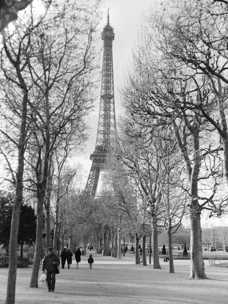 La Tour Eiffel Photography Art | The World in Black and White