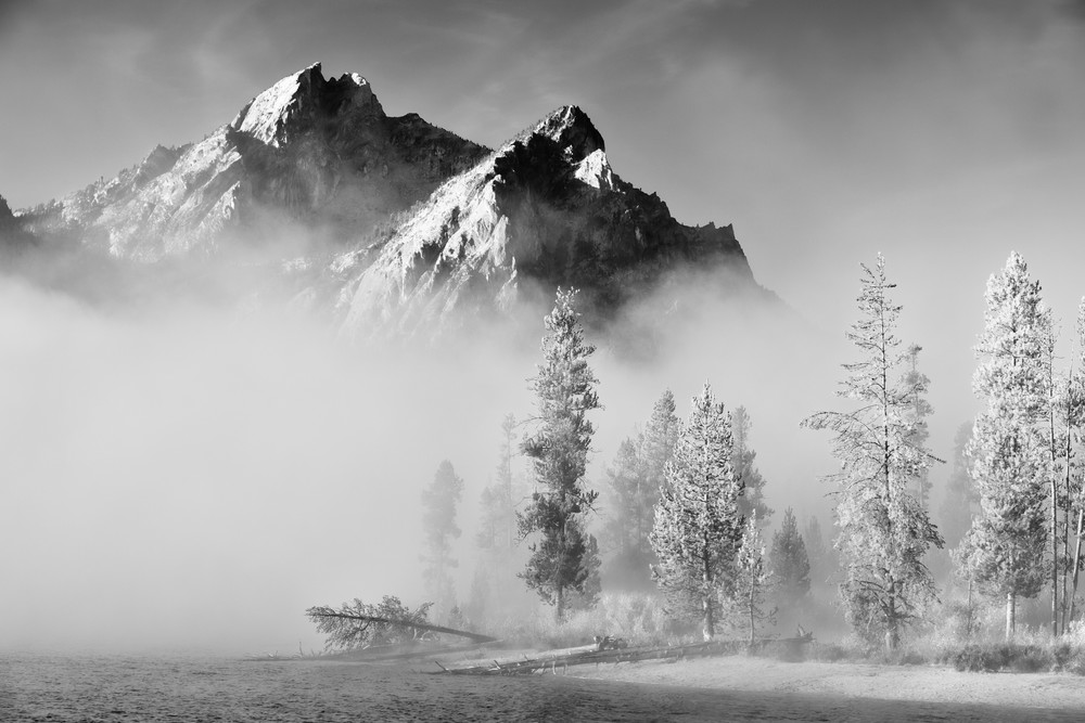 Mt McGown's Requiem Stanley Lake - Sawtooth Basin in Central Idaho - Fine Art Prints on Metal, Canvas, Paper & More By Kevin Odette