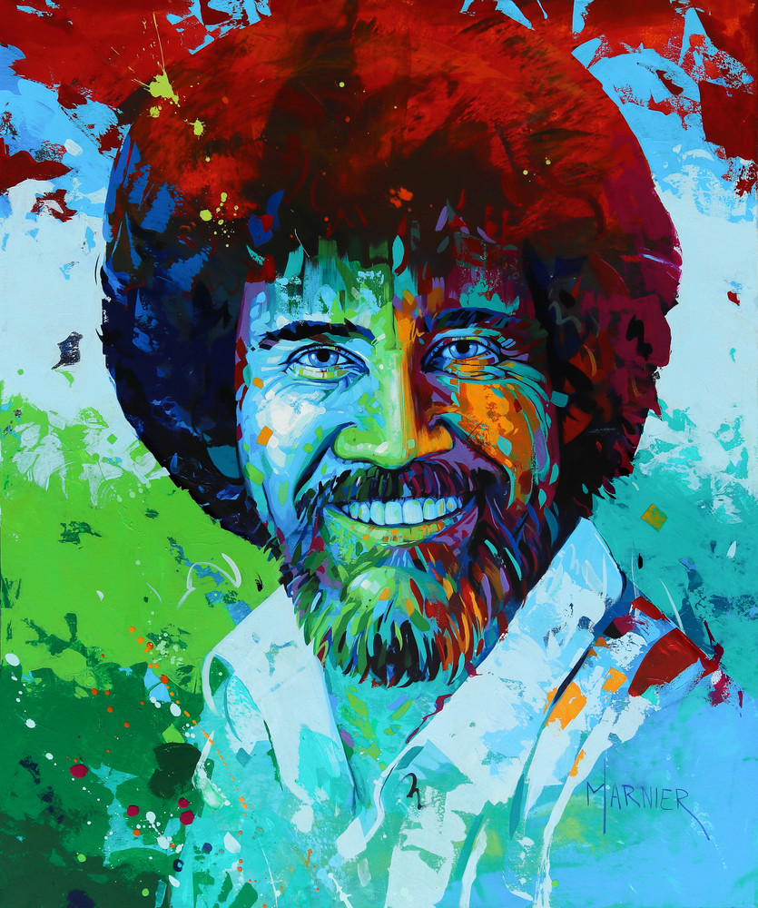 TV Show Joy of Painting, Artist, Marnier Art, Bob Ross
