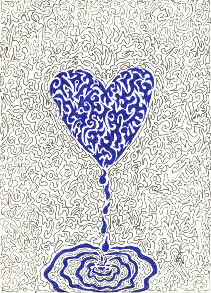 Dripping Heart Jigsaw Art | Off The Edge Art