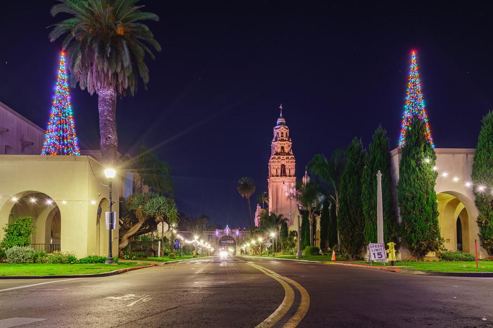 Balboa Park, San Diego Christmas Trees Fine Art Print Art   McClean Photography