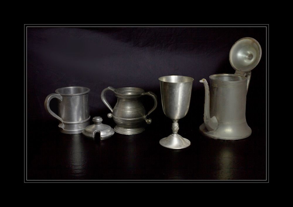 A Fine Art Photograph of Old Fashioned Tea Kettles by Michael Pucciarelli