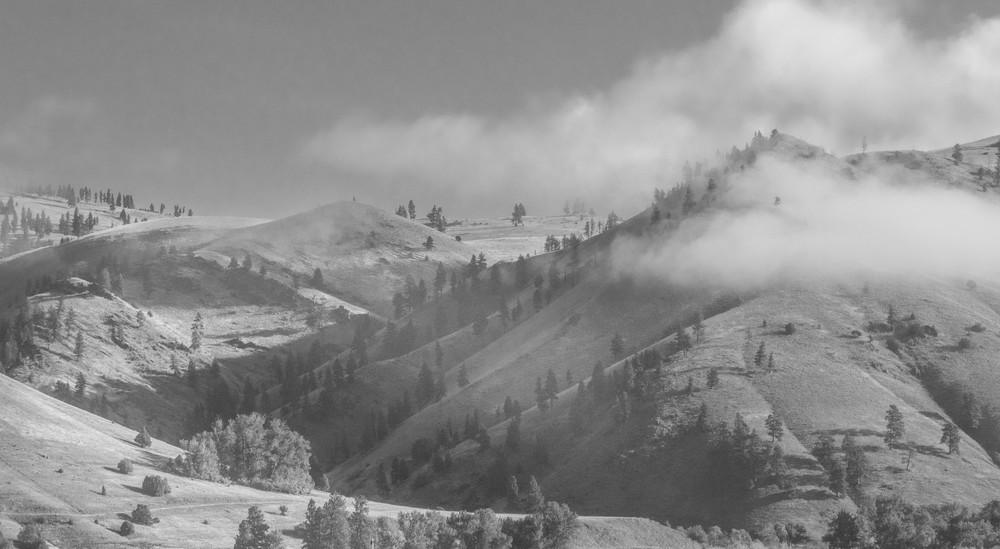 Missoula Mountain Fog Photography Art | Austin Marvel