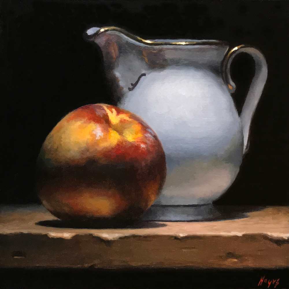 Nectarine And Creamer Art | Jeff Hayes Fine Arts