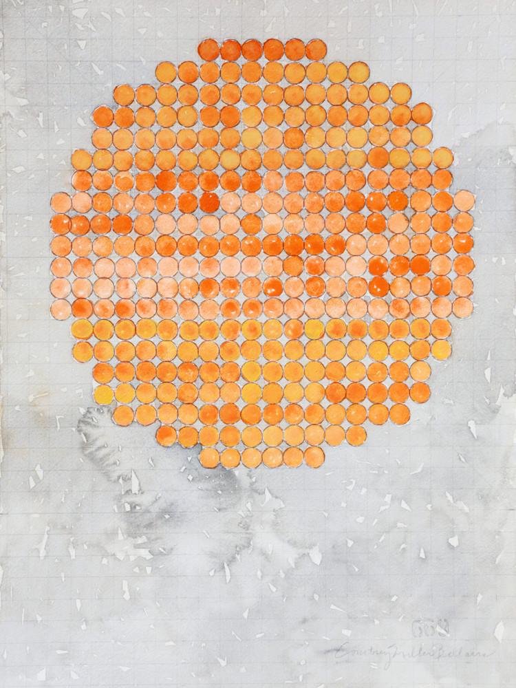 Circle Circle, Orange, Three Parts Art   Courtney Miller Bellairs Artist