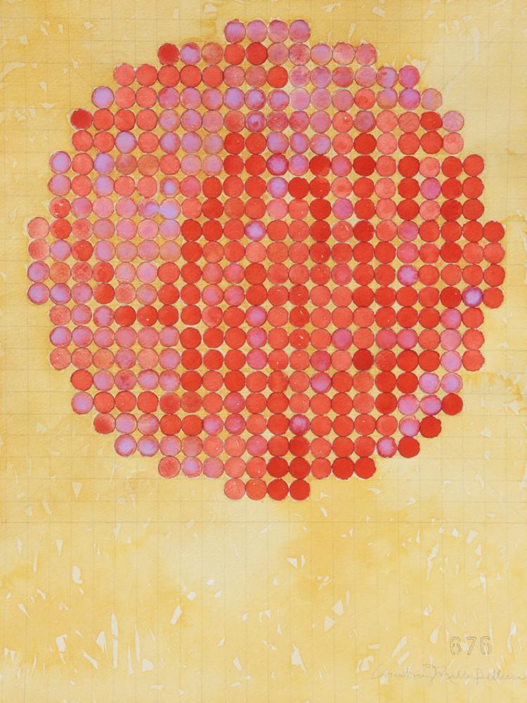 Circle Circle, Orange On Buff Art   Courtney Miller Bellairs Artist