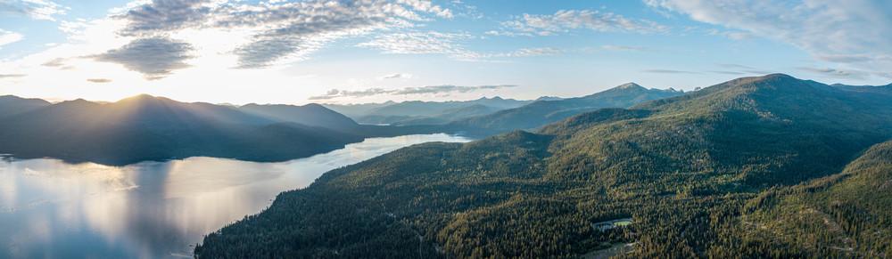 Panoramic Priest Lake Photography Art   Austin Marvel