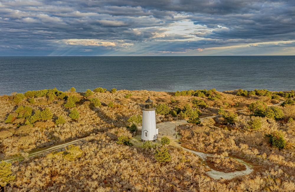 Cape Poge Light Offshore Sunbeams Art | Michael Blanchard Inspirational Photography - Crossroads Gallery