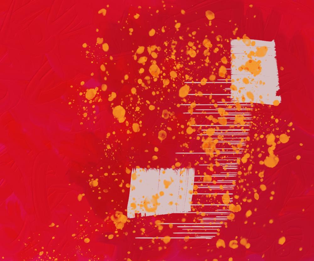 10.20 Digital Painting Red Art | Glenn McDaniel Arts, LLC