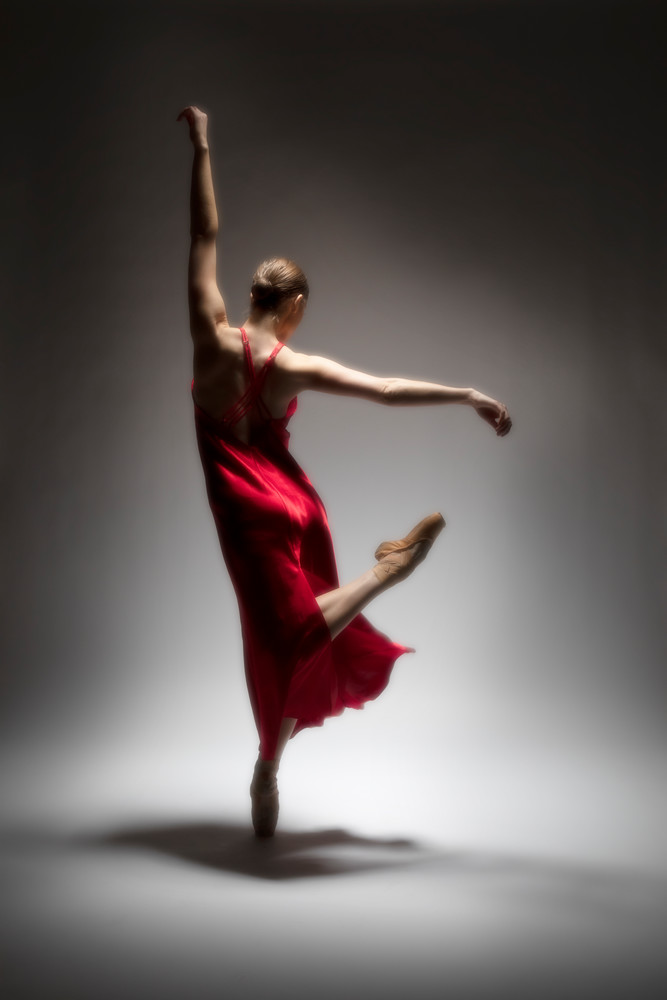 Ballet In A Red Dress Photography Art | Christopher Grey Studios