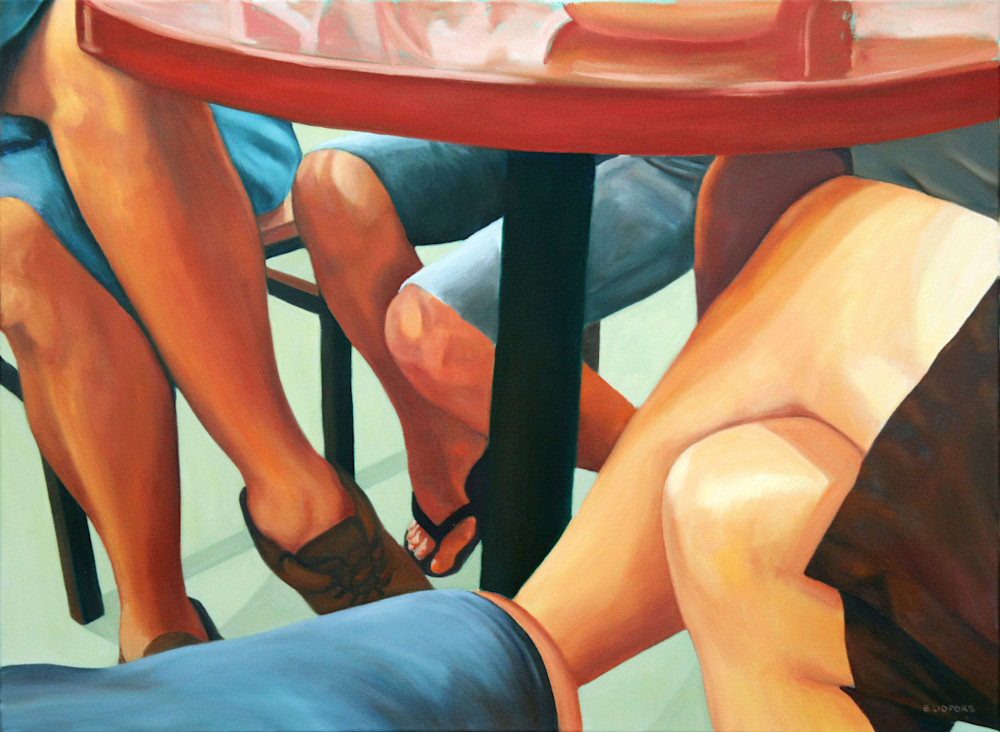 Eight Legs And One Table  Art   Lidfors Art Studio