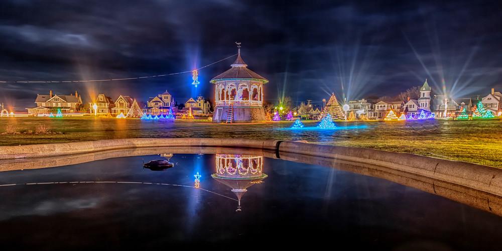 Ocean Park Christmas Lights Reflection Art | Michael Blanchard Inspirational Photography - Crossroads Gallery