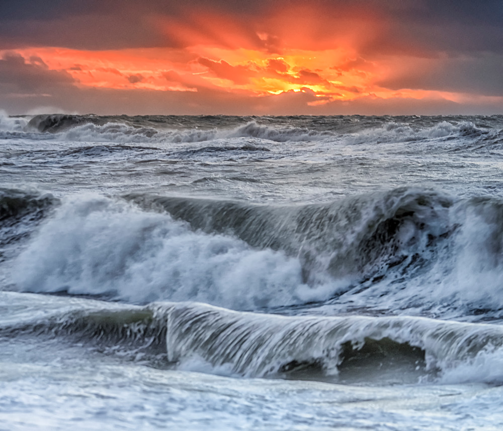 South Beach Fall Waves At Sunrise Art | Michael Blanchard Inspirational Photography - Crossroads Gallery