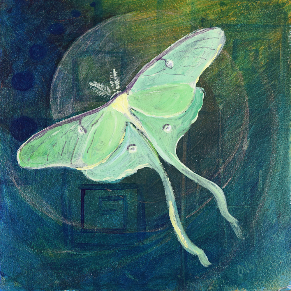 Luna Moth Spiritual Art Print