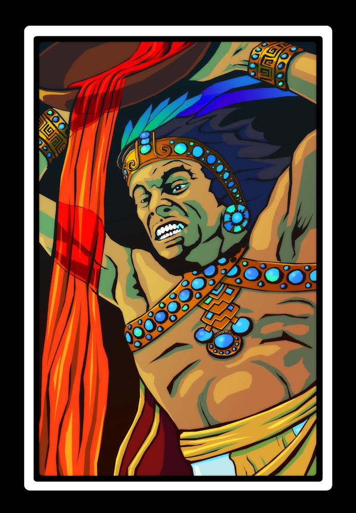 Healer King pouring blood