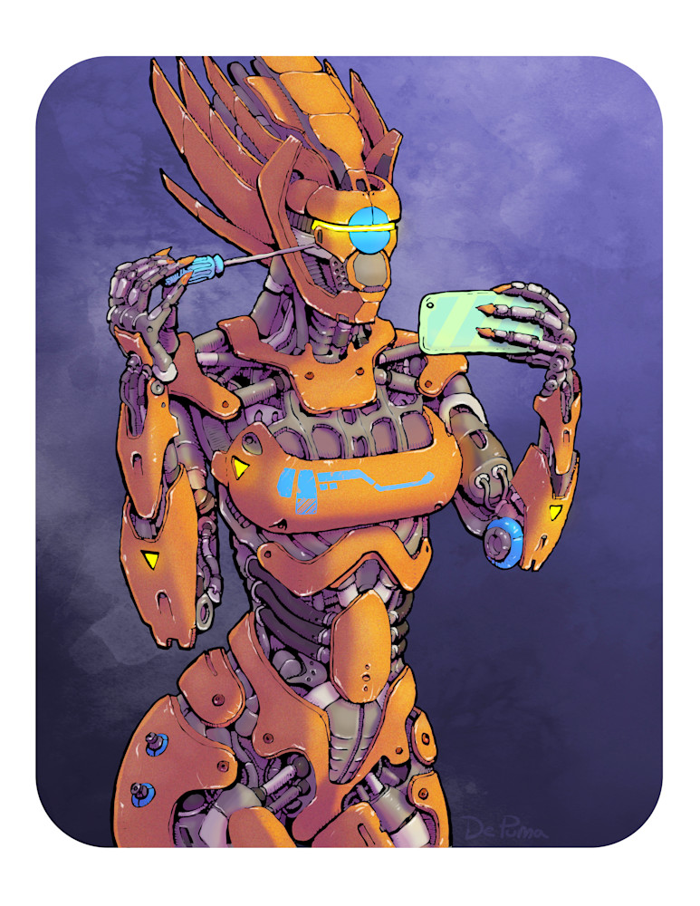 Selfiebot with screwdriver