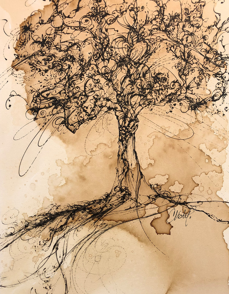 Tree On Hill  Art | Christy! Studios
