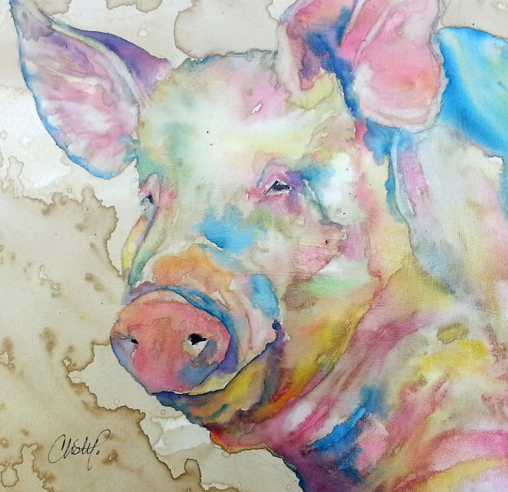 Square Pig Art | Christy! Studios