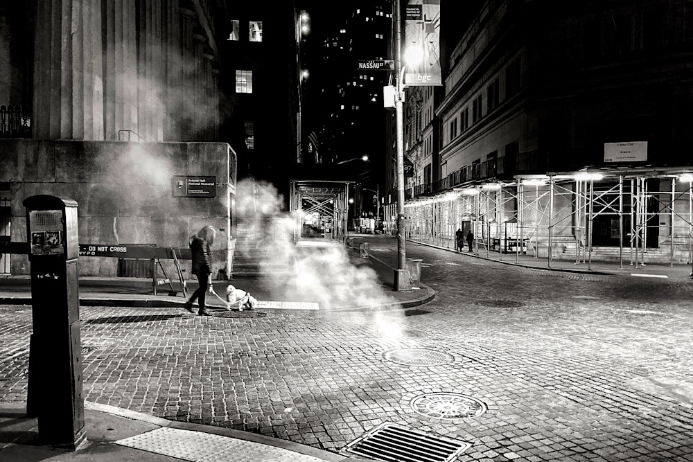 Wall Streer At Night Photography Art   LenaDi Photography LLC