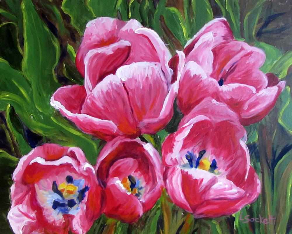 Tip Toe Through The Tulips Art   Linda Sacketti