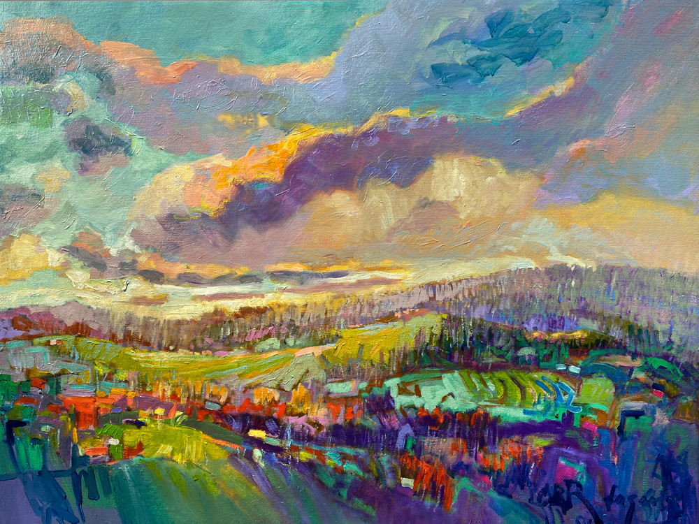 Gorgeous Landscape Painting, Oversize Canvas Print by Dorothy Fagan