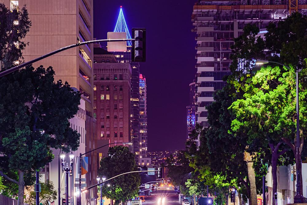Downtown San Diego Night Shot Fine Art Print Art | McClean Photography