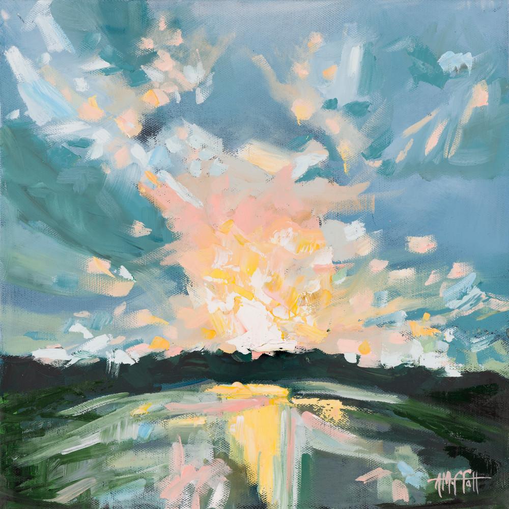 Pastel Sunset over the Marsh by April Moffatt