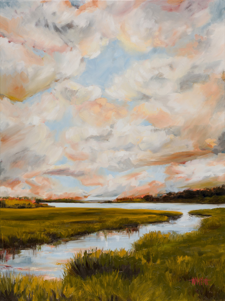 Giclee Print Clouds over the Marsh by April Moffatt
