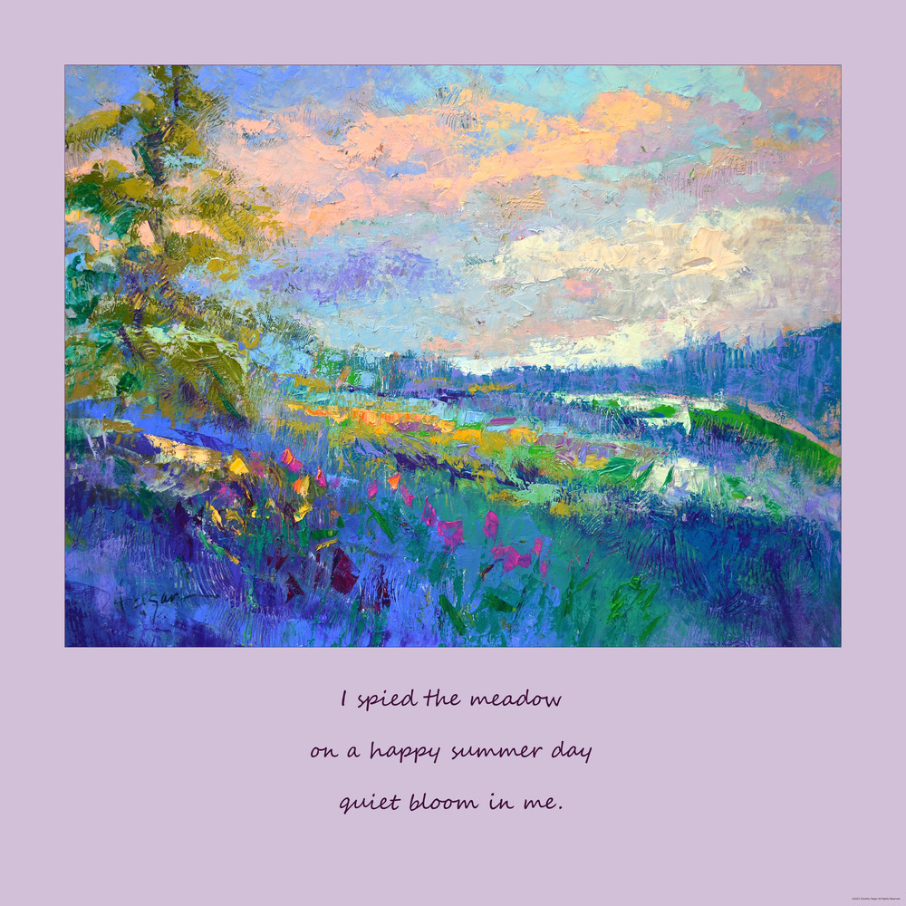 Inspirational Art Prayer Poetry with Beautiful Landscape